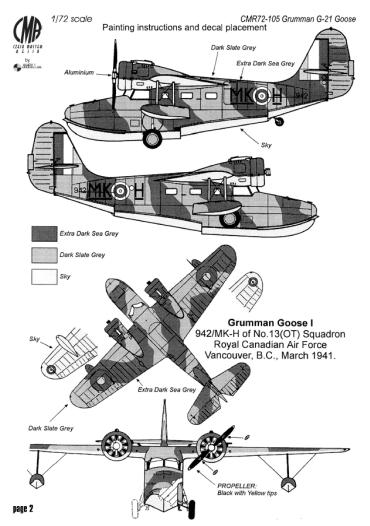 CMR105 Grumman G-21 Goose | West Coast Hobbys