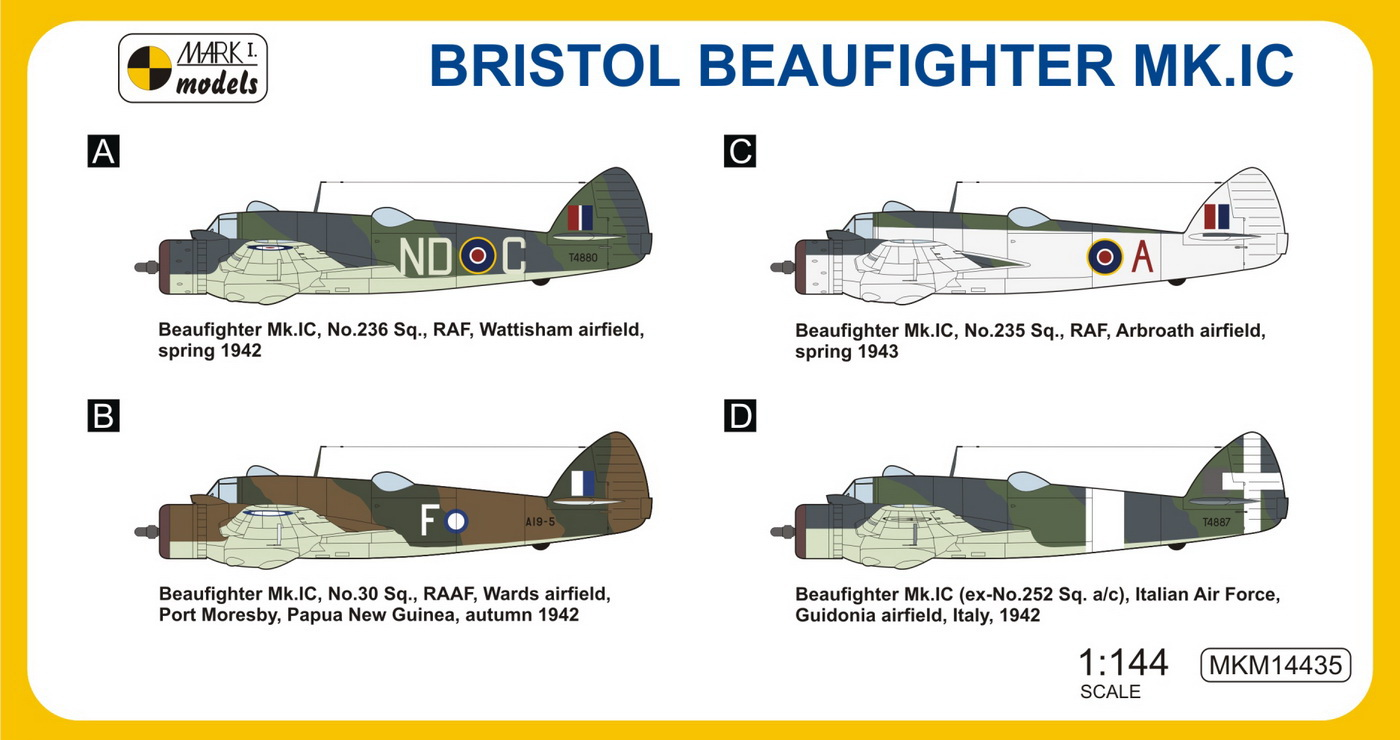 Mkm14435 Bristol Beaufighter Mk Ic Coastal Patrol West